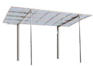 台風時や強風時などに柱を使用して本体を守ります